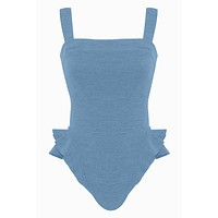 Barres Ruffle One Piece Swimsuit - Riviera Blue