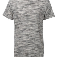 LE3NO Mens Lightweight Short Sleeve Longline T Shirt (CLEARANCE)
