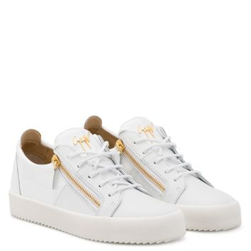 Giuseppe Zanotti Gz Double White Calfskin Leather Low-top Sneaker