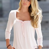Light Pink (LTPK) Square Neck Top