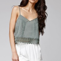 Lucca Couture Crochet Trim Shorts - Womens Short - White