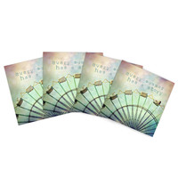 """Sylvia Cook """"Every Summer Has a Story"""" Indoor/Outdoor Place Mat (Set of 4)"""