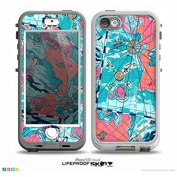 The Neon Navigation Skin for the iPhone 5-5s NUUD LifeProof Case