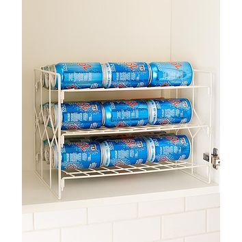 Kitchen Soda Cans Vegetable or Soup Can or Canned Goods 3 Tier Pantry Organizer