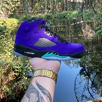 Air Jordan 5 Alternate Grape sneakers basketball shoes