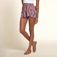 Patterned Petal Shorts