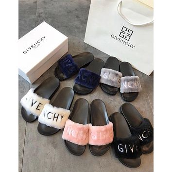 Givenchy Sandals In Shearling #1003