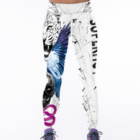 2017 Women Yoga Pants Sports Tights Leggings Fitness Running Tights Colorful Butterflies Sport Trousers women fitness clothing