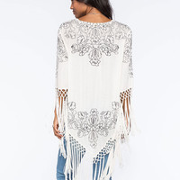 O'neill X Anna Sui Twilight Womens Kimono Cream  In Sizes