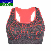 Professional Women Shockproof Sports Bra, Stretch Push Up Padded Fitness Vest ,Breathable Seamless Underwear Yoga Running T
