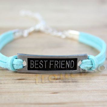 Simple clear Best friend bracelet,Goose down line bracelet, color can be adjustable