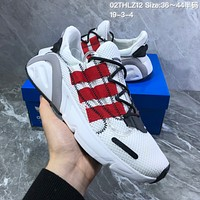 hcxx A690 Adidas Yeezy Boost 600 Knit Breathable Mesh Sports Casual Running Shoes White Red
