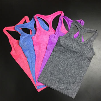 Sports Active summer style tank top quick dry Hot Ladies Fashion Sports Camis Fitness Gym Tanks