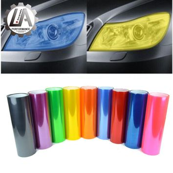 LEOSPORT-30cmx100cm a roll Car-Styling car headlights taillights lights tint protective vinyl film stickers changing color