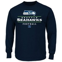 Seattle Seahawks Critical Victory Long Sleeve T-Shirt - College Navy