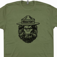 Squatchy Sasquatch T Shirt Smokey The Bear T Shirt Bigfoot T Shirt Cool Camping Shirt