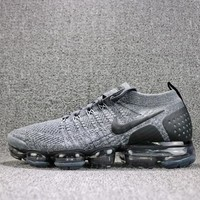 2018 Nike Air VaporMax Flyknit 2.0 Grey Black 942842-002 Sport Running Shoes - Best Online Sale