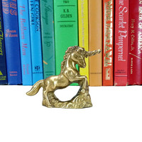 Vintage Unicorn Brass Figurine Animal Decor Whimsical Majestic Mythical Fantasy Horse Childrens Nursery Room Home Accent Gifts