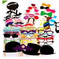 58PCS Funny Photo Booth Props Hat Mustache On A Stick Wedding Favors Birthday Party Decoration = 1945904516