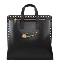 Versace - SAFETY PIN PUNCHED TOTE BAG