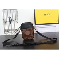 FENDI FF ZUCCA CANVAS Roma Amor INCLINED SHOULDER BAG