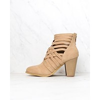 urban lights cut out back zip chunky heel ankle bootie