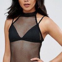 ASOS Body in Mesh With High Neck at asos.com