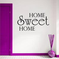 Wall Decal Quotes Home Sweet Home Family Design Vinyl Decals Living Room Bedroom Hotel Hostel Window Stickers Home Decor Art Mural 3754