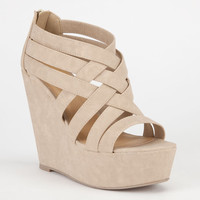 Soda Berta Womens Shoes Natural  In Sizes