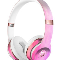 Pink 8682 Absorbed Watercolor Texture Full-Body Skin Kit for the Beats by Dre Solo 3 Wireless Headphones