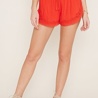 Embroidered Crochet Shorts | Forever 21 - 2000153736