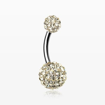 zzz-Classic Multi-Gem Sparkle Belly Ring