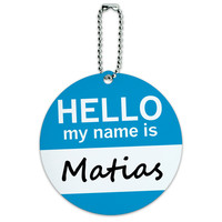 Matias Hello My Name Is Round ID Card Luggage Tag