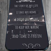 One Direction Story Lyric for iPhone 4/4s/5/5S/5C/6, Samsung S3/S4/S5 Unique Case *95*