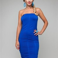 G2 Chic Women's Strapless Sexy Solid Bodycon Tube Dress
