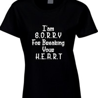 Adele Hello I Am Sorry For Breaking Your Heart Arf Womens T Shirt