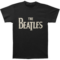 Beatles Men's  Vintage Drop T Logo Vintage T-shirt Vintage