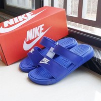 Nike Wmns Benassi Blue Sandals Slipper Shoes