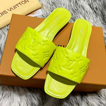 LV Louis Vuitton new printed letters female slippers temperament sandals Shoes