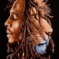 """40"""" Bob Marley One Love Wall Hanging Tapestry Throw Poster Flag Cotton Textile"""