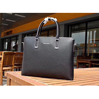 PRADA MEN LEATHER BRIEFCASE BAG