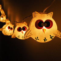 SALE Super Cute Owl Fairy String Light - 20 owl Lights Fairy lights Party Decor Wedding Garden Spa and Holiday Lighting
