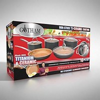 10-Piece Nonstick Frying Pan and Cookware Set - Graphite