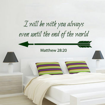 Family Wall Decal I Will Be With You Always Vinyl Stikers Love Art Mural Home Matthew 28 Bedroom Decor Dorm Living Room Interior Design KY72