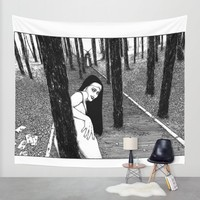 asc 603 - L'histoire sans fin (The Garden of Forking Paths) Wall Tapestry by From Apollonia With Love | Society6
