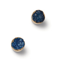 Lydali Blue Druzy Stone Earrings