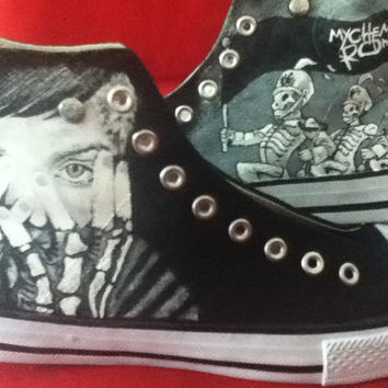 Hand Painted Hi Tops My Chemical Romance