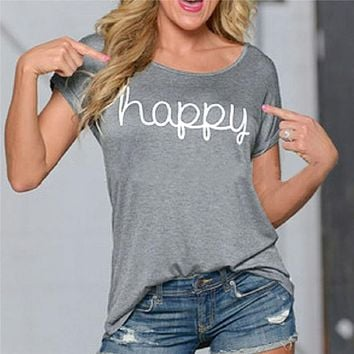 Women's Casual Happy Tee
