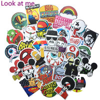 50pcs Random Mixed Sticker On Notebook for Snowboard Laptop Luggage Car Fridge Styling Vinyl Decal home decor Stickers Pegatinas