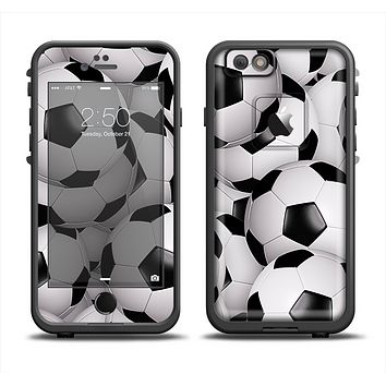 The Soccer Ball Overlay Apple iPhone 6 LifeProof Fre Case Skin Set